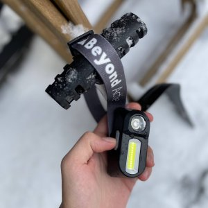 Rechargeable headlamp with LED